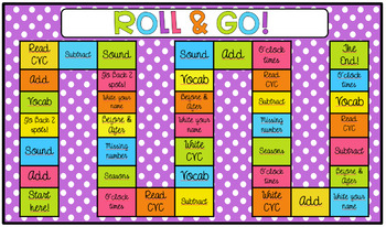 Board Game Addition, subtraction and phonics