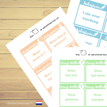 Dutch Board Game⎜Ask questions, answer and write ⎜Printable Board Game