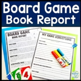 Board Game Book Report Template: Design a Game Based on a Fiction Book!