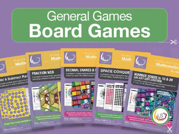 Fractions, Add & Subtract, Decimals and Fractions - 5 board games Bundle 1