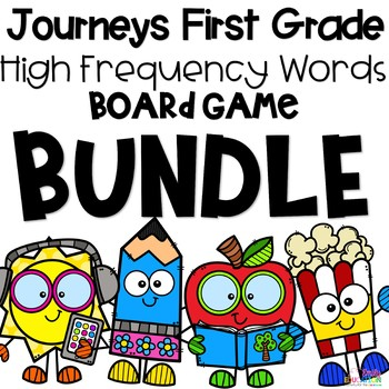 Board Game Bundle Journeys 1st Grade High Frequency Words