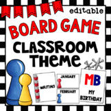Board Game Class Decor   Editable   Binder Covers and Birt