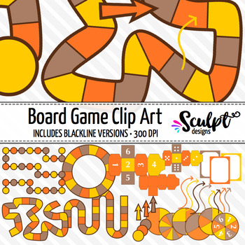 Board Game Clip Art ~ Fall Colors