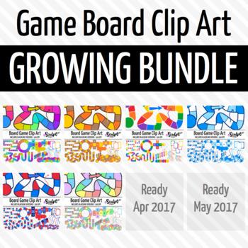 Board Game Clip Art - Growing Bundle!