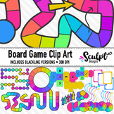 Board Game Clipart ~ Neon Colors