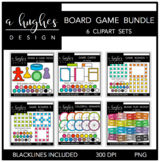 Board Game Clipart Bundle {A Hughes Design}