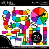 Board Game Clipart - Outlined - [Ashley Hughes Design]