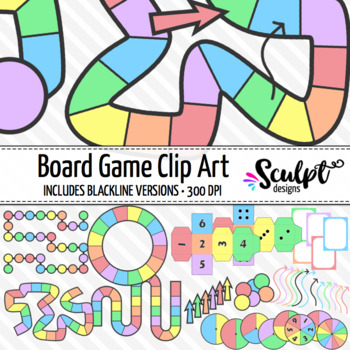 Board Game Clipart ~ Pastel Colors
