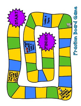 Board Game - Fractions