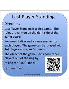 Board Game : Last Player Standing