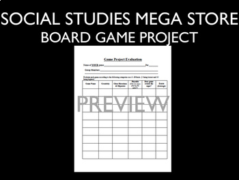 Board Game Project World History