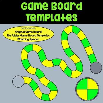Board Game Template: Green & Yellow