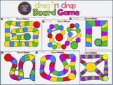 Review Game - Interactive Board Game Template in Power Point Drag and Drop