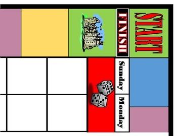 Game Board Calendar! Game Board Bulletin Board! Board Game