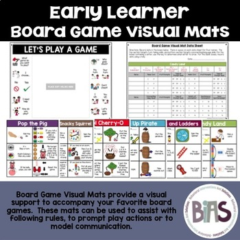 Board Game Visual Mats for Special Education and Language Comprehension (Set 1)