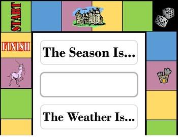 Board Game Weather Chart! Board Game Bulletin Board! Board