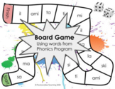 Board Game - Words from List 1 + 2 Phonics Program. Includ