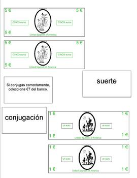 Board Game :  -er Present Tense Spanish