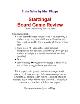 Board Game for Any Subject