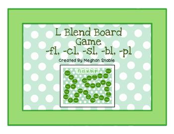 Board Game with L blends (fl, cl, sl, bl, pl)