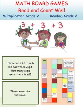 Multiplication Board Games  Grade 2