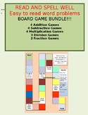 Board Games  Addtion, Subtraction, Multiplication, and Division  Easy to read