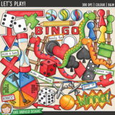 "Board Games Clip Art: ""Let's Play!"""