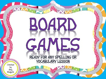 Board Games Ready For Any Spelling Or Vocabulary Lesson
