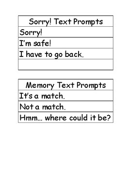 Board Games Text Prompts