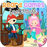 Pirate & Mermaid Board Games for Math