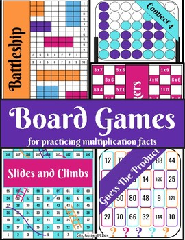 Board Games for Practicing Multiplication Facts