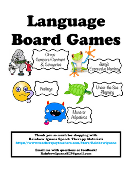 Board Games for Speech & Language Therapy