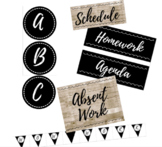 Board Label and Poster Set - Black and Shiplap