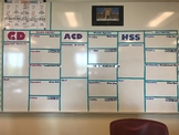 Board Letters and Words for Weekly Agenda