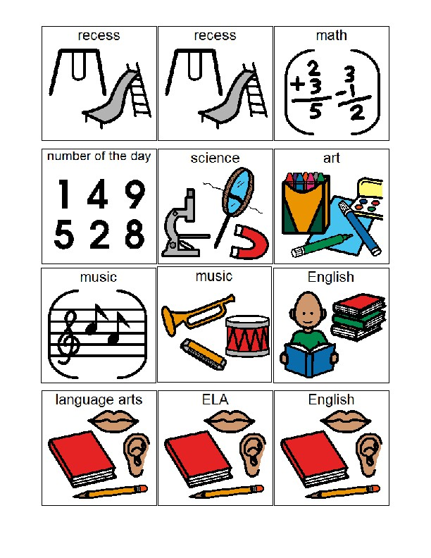 Visual Schedule For Classroom Board Maker By