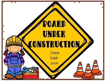 Board Under Construction Sign
