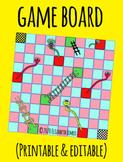 Board game 2 (Printable & editable)