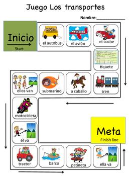 Board game - El transporte
