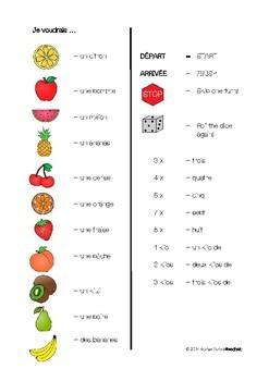 Board game (fruits) - Jeu de table (fruits)