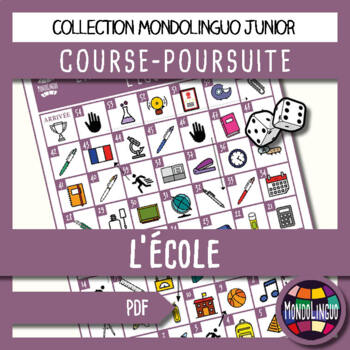 Board game to teach French/FFL/FSL - Course Poursuite - Ec