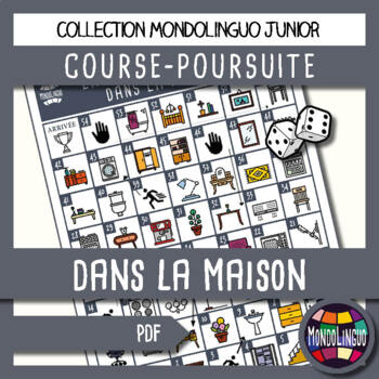 Board game to teach French/FFL/FSL - Course Poursuite - Ma