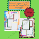 Boarder page set of 20- personal and commercial use unique