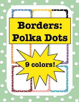 borders polka dots borders polka dots