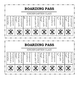 Boarding Pass Game
