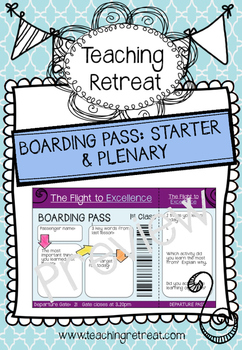 Boarding Pass Starter & Plenary Activity