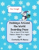 Boarding Pass for Holidays Around the World