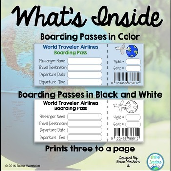 Boarding Passes {perfect for virtual field trips and research projects}
