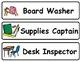 Boardmaker Classroom Jobs and Responsibilites Cards