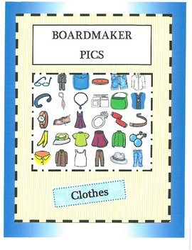 Boardmaker Pictures-clothes