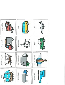 Boardmaker Pictures-transportation